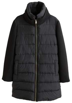 MANGO Wool-blend quilted coat