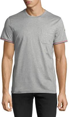 Moncler Tricolor-Sleeve Pocket T-Shirt