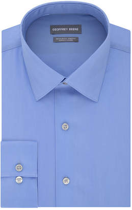 Geoffrey Beene Always Tucked Stretch Regular Long Sleeve Broadcloth Dress Shirt