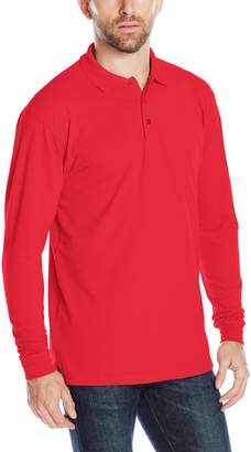 Cutter & Buck Men's Long-Sleeve Evans Pique Polo