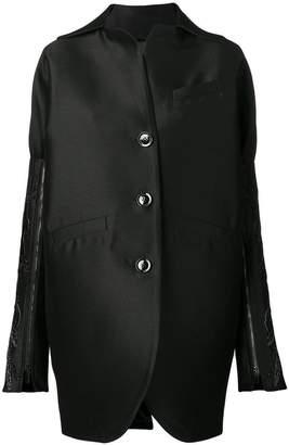 Romeo Gigli X Eggs embellished sleeve stiff jacket