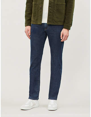 Canali Regular-fit faded straight-leg jeans