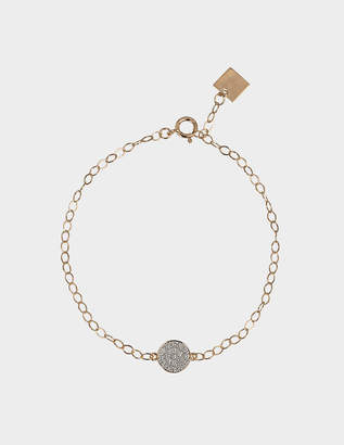 ginette_ny Mini Diamond Ever Disc bracelet