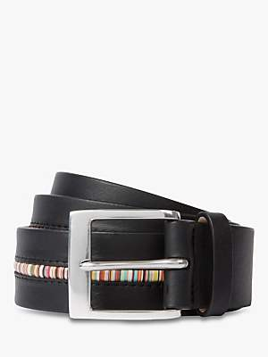 f263ca727a2 Paul Smith Signature Stripe Piping Leather Belt