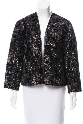 Derek Lam Metallic Faux Fur Jacket