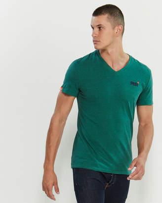 Superdry Green V-Neck Short Sleeve Tee