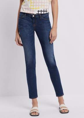 1ca9fd39b60 Emporio Armani Skinny J06 Jeans In A Blend Of Stretch Denim And Lyocell  With Vintage Effect