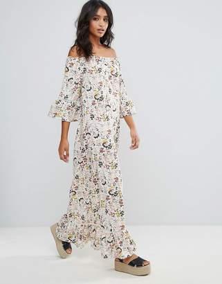 Rage Floral Off Shoulder Oversized Maxi Dress $45 thestylecure.com
