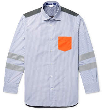 Junya Watanabe Panelled Cotton-Poplin and Ripstop Shirt