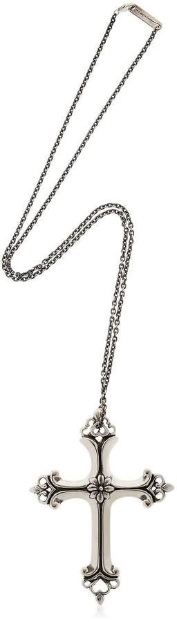 Manuel Bozzi Big Cross Sterling Silver Necklace