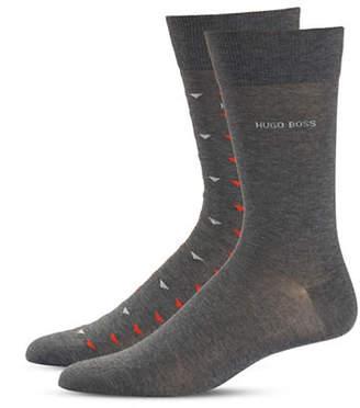 Boss Two-Pack Stretch Mid-Calf Socks