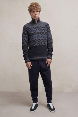 French Connenction Ski Fair Isle Half Zip Jumper