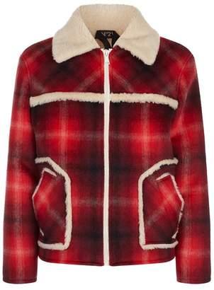 N°21 Shearling Check Jacket