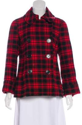 Marc Jacobs Double-Breasted Plaid Jacket