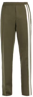 Valentino Side Stripe Track Pants - Mens - Green