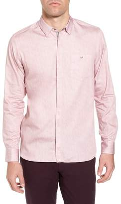 Ted Baker Herringbone Long Sleeve Shirt