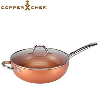 Copper Chef Non-Stick Wok, with Glass Lid