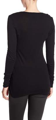 Michael Stars Scoop Neck Long Sleeve Basic Tunic