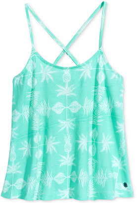 Roxy Read My Lips Pineapple-Print Tank Top, Big Girls (7-16) $28 thestylecure.com