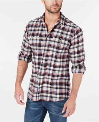 Barbour International Steve McQueen Men Rick Herringbone Plaid Shirt