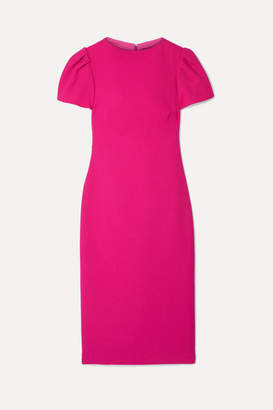 Brandon Maxwell Wool-crepe Midi Dress - Fuchsia