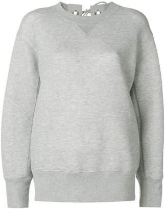 Sacai lace up detail sweatshirt