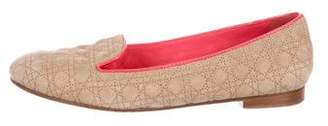 Christian Dior Cannage Suede Flats