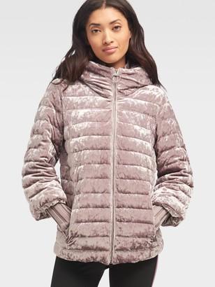 DKNY Velour Puffer Jacket