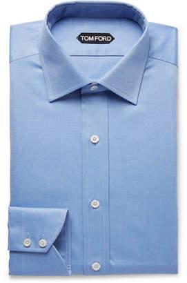 Tom Ford Light-Blue Slim-Fit Cotton-Twill Shirt - Men - Light blue