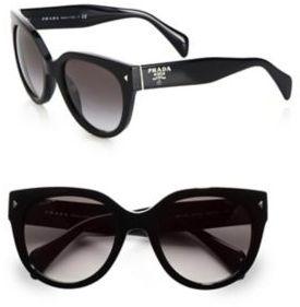 Prada Round Cat's-Eye Acetate Sunglasses
