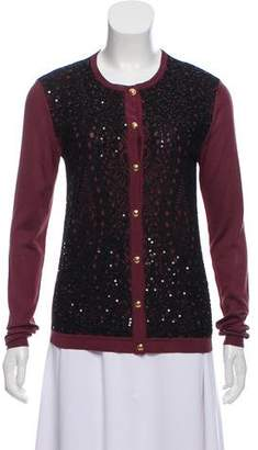 Emilio Pucci Sequined Button-Up Cardigan