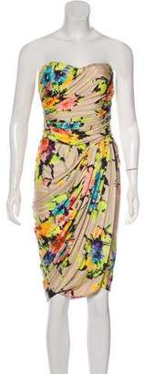 Blumarine Silk Strapless Dress