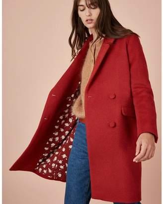 Des Petits Hauts Red Livento Coat - Size 0 UK6