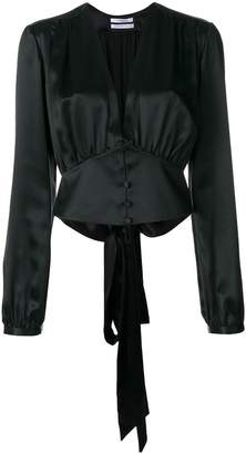 Givenchy cropped button and tie blouse
