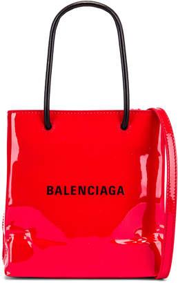 Balenciaga XXS Shopping Tote Bag in Bright Red | FWRD