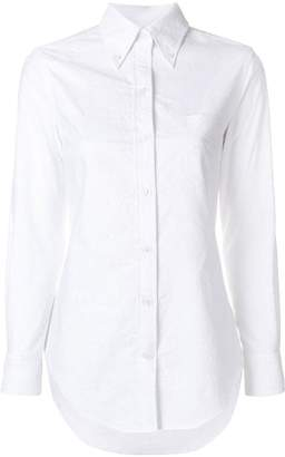 Thom Browne Flower Embroidery Button Down Shirt