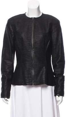Ralph Lauren Black Label Textured Leather Jacket w/ Tags