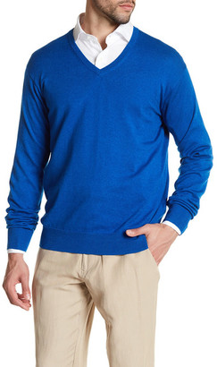 Peter Millar Long Sleeve V-Neck Sweater $135 thestylecure.com