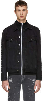 Palm Angels Black Classic Denim Jacket