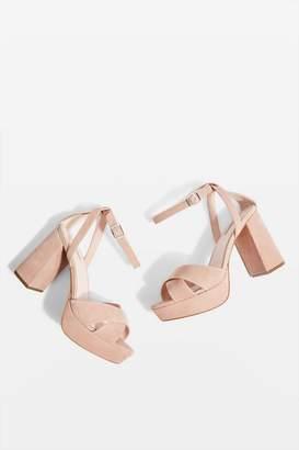 Topshop Wide Fit Leah Platform Heels