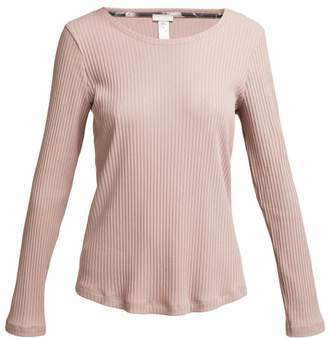 Hanro Ami Ribbed Long Sleeved Top - Womens - Light Purple