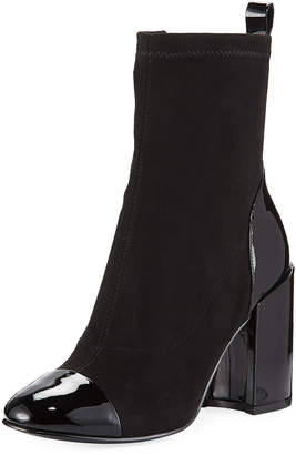 Marc Fisher Tache Block-Heel Zip Bootie