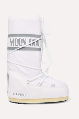 Moon Boot Shell And Rubber Snow Boots - White
