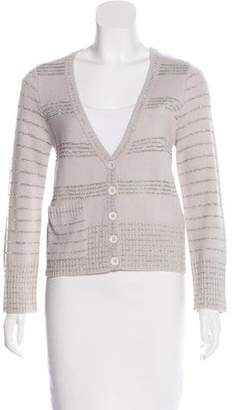 Marc by Marc Jacobs Metallic Wool Cardigan