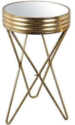 Privilege Large Iron Mirror Stand - Gold