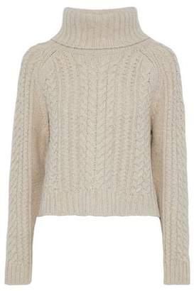 Alice + Olivia Tobin Cable-Knit Wool-Blend Turtleneck Sweater