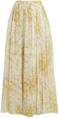 Brock Collection Sade sweet-pea print gathered cotton skirt