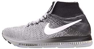 Nike Women's WMNS Zoom All Out Flyknit, Wolf Grey/White - Black