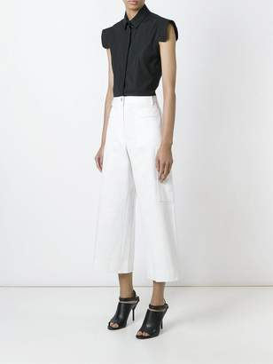 Maison Margiela Cropped flared trousers