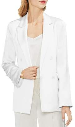 Vince Camuto Satin Double-Breasted Blazer